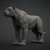 Big Cat Base Mesh^By Bojan Spirovski