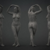 Female Life Pose^by 3D Scan Store