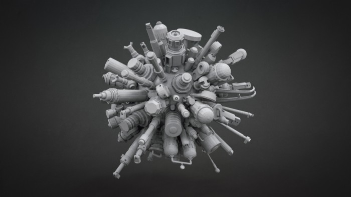 Filter Forge - Kitbashing professional 3D models greeble to use with