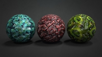 Tileable Alien Textures & Normals^By QuadSpinner