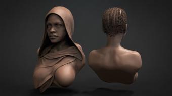 African Girl Bust^by Daniele Danko Angelozzi