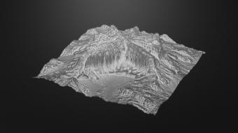 Alien Glacier Terrain^By QuadSpinner