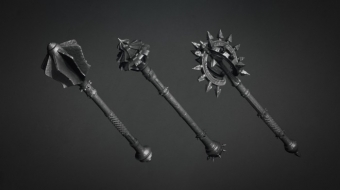 Mace Brush & Models Set^by Nick Gizelis