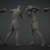 Male Kickboxer Pose^by 3D Scan Store