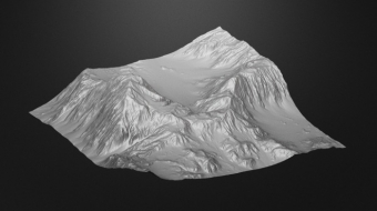 Mountain Terrain Model^By Michael Kaczmarek