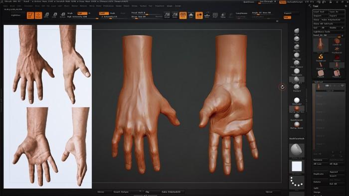 CH_06_Sculpting_a_Hand