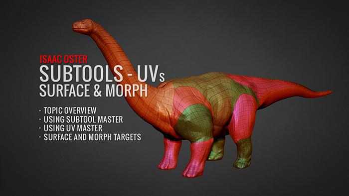 Subtools UVs Surface & Morph